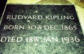 Westminster Abbey 34 (tombe van Rudyard Kipling)