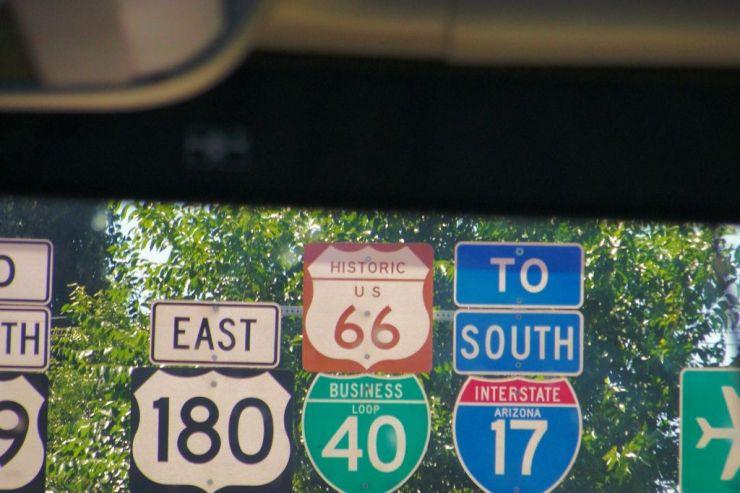 Route 66 bordje
