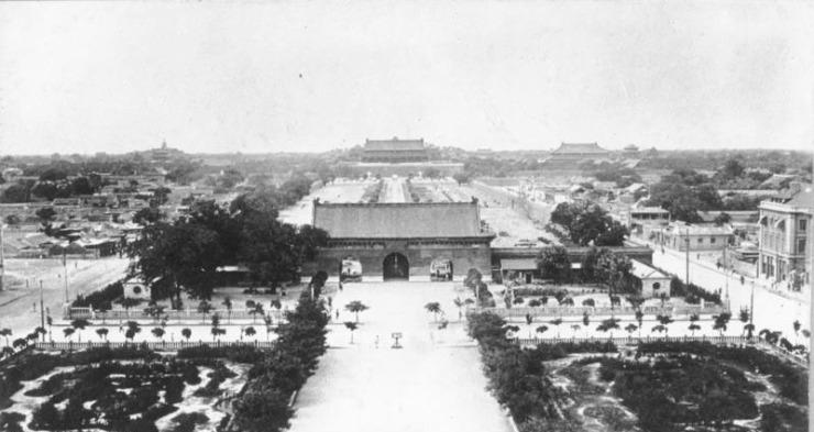 Peking, Blick vom Chienmen auf die Kaiserstadt