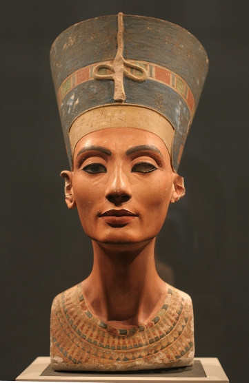 The Nefertiti Bust, ca 1350 BC. Found in the collection of the Staatliche Museen, Berlin. (Photo by Fine Art Images/Heritage Images/Getty Images)